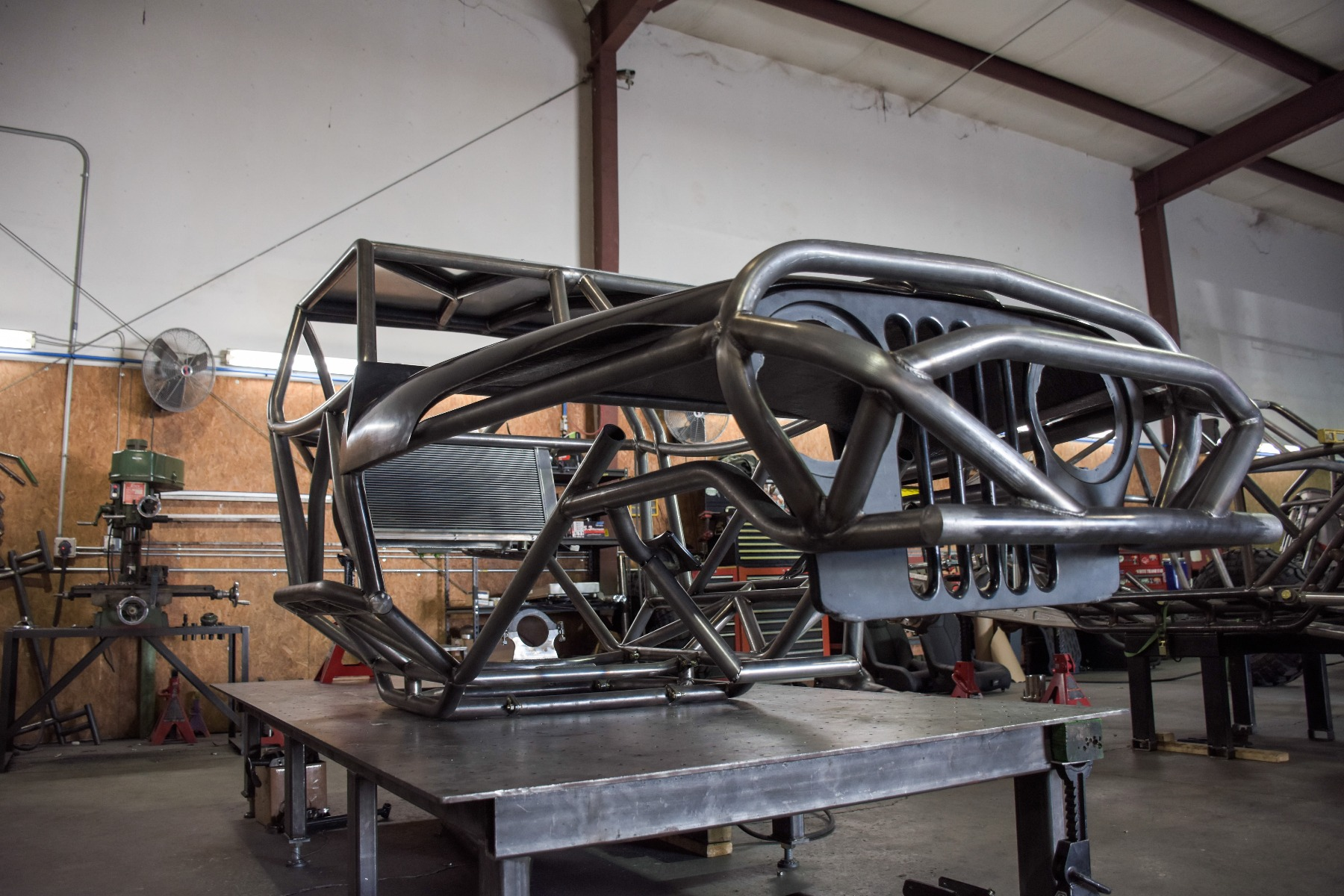 Wide Open Design Evolution Rock Crawler chassis with jeep hood and grill front 8
