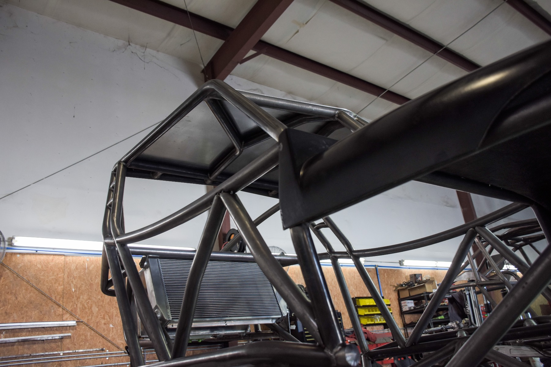 Wide Open Design Evolution Rock Crawler chassis with jeep hood and grill roof 13