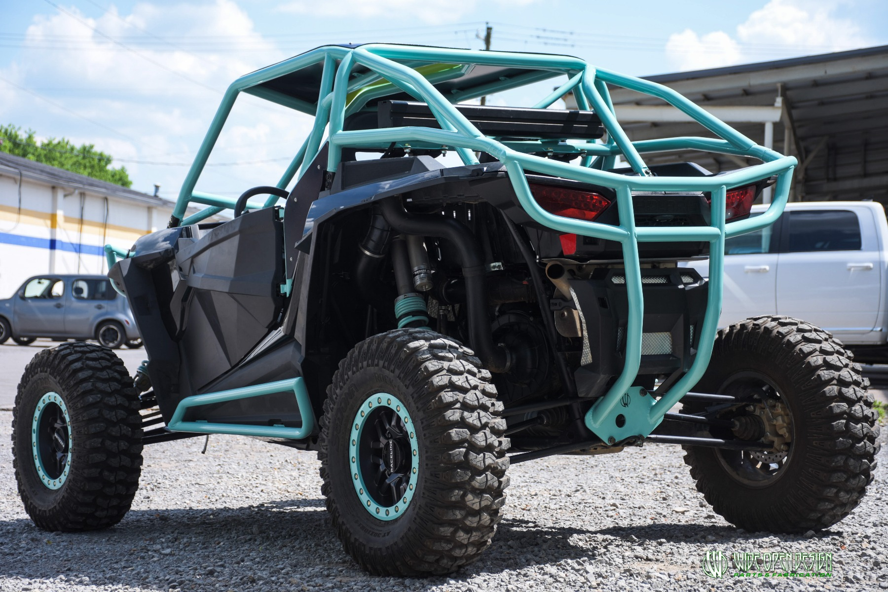 Wide Open Design UTV Cage RZR Cage Double Down featuring Double Pillars 34