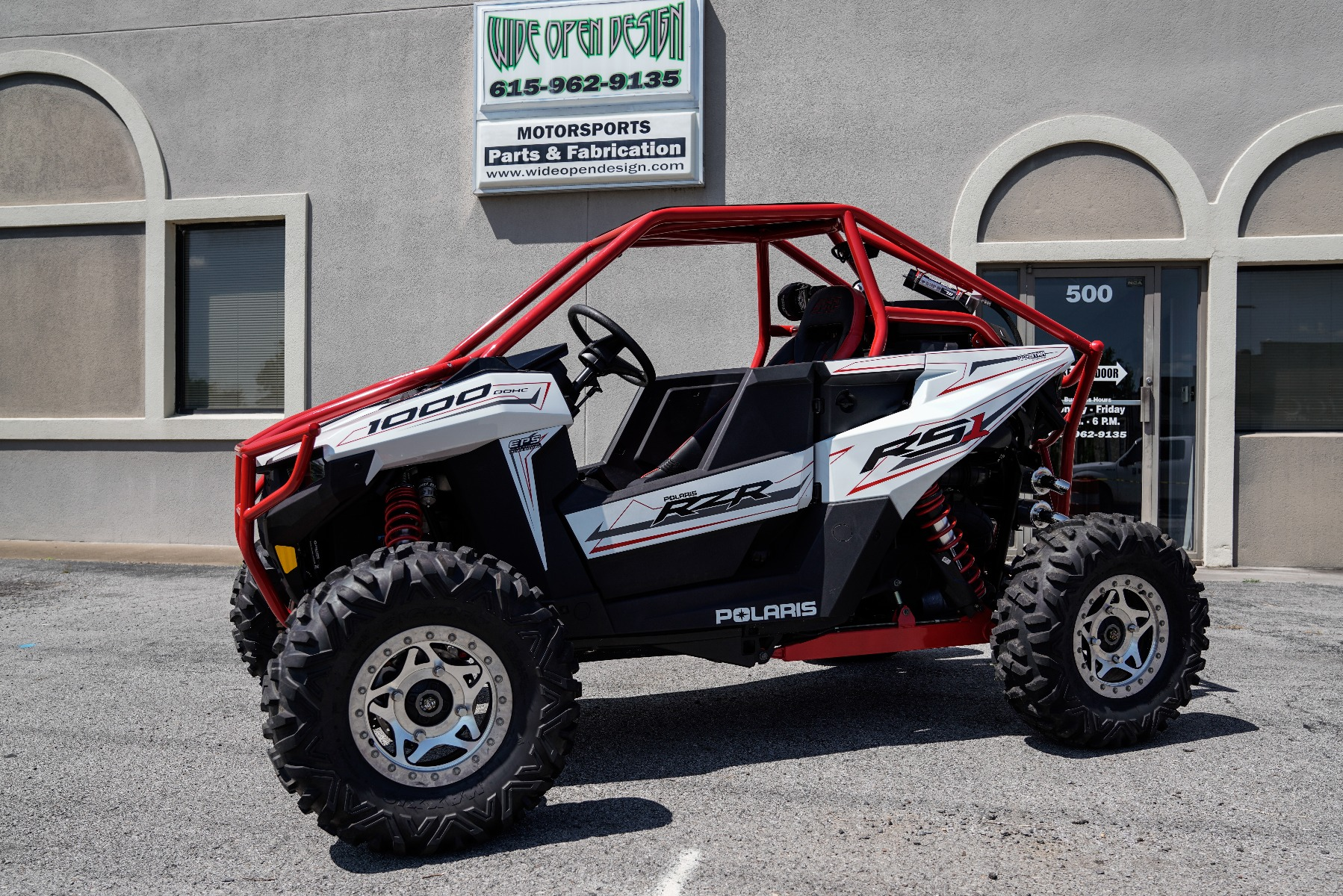 Polaris RZR RS1 Roll Cage in front of Wide Open Design Image 1