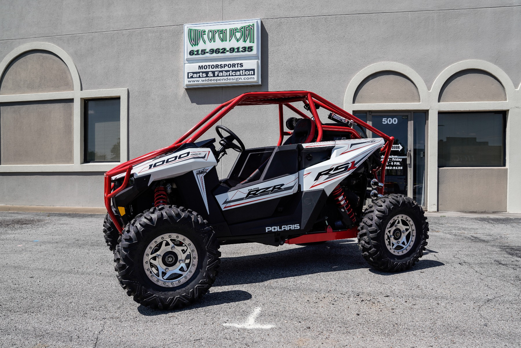 Polaris RZR RS1 Roll Cage in front of Wide Open Design Image 2