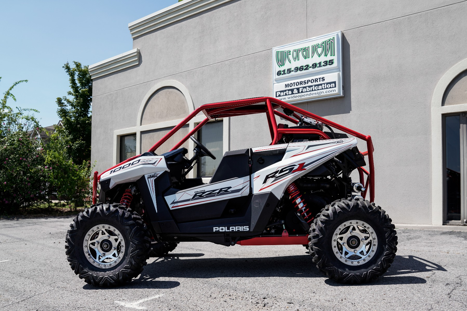Polaris RZR RS1 Roll Cage in front of Wide Open Design Image 3