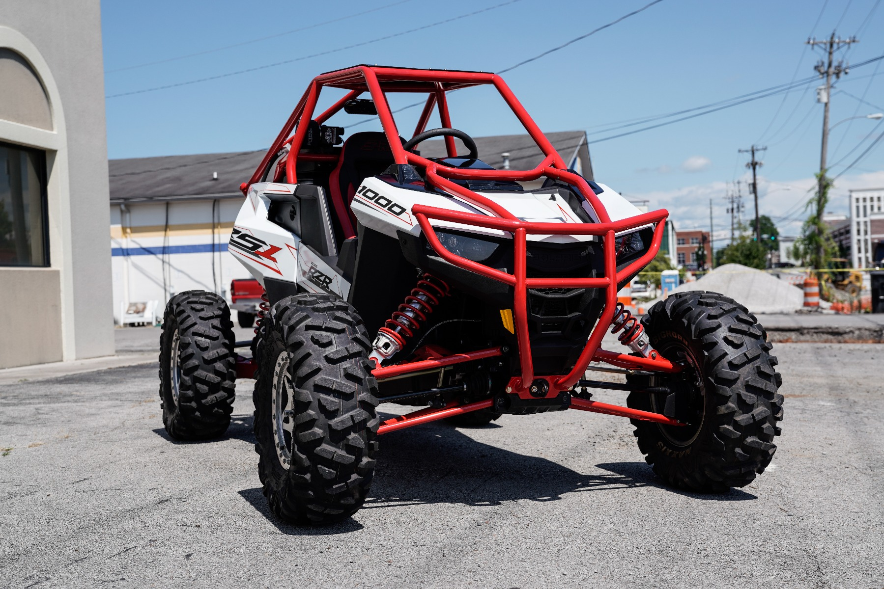 Polaris RZR RS1 Roll Cage in front of Wide Open Design Image 5