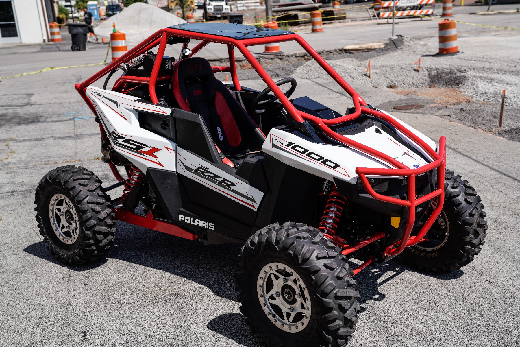 Polaris RZR RS1 Roll Cage in front of Wide Open Design Image 6