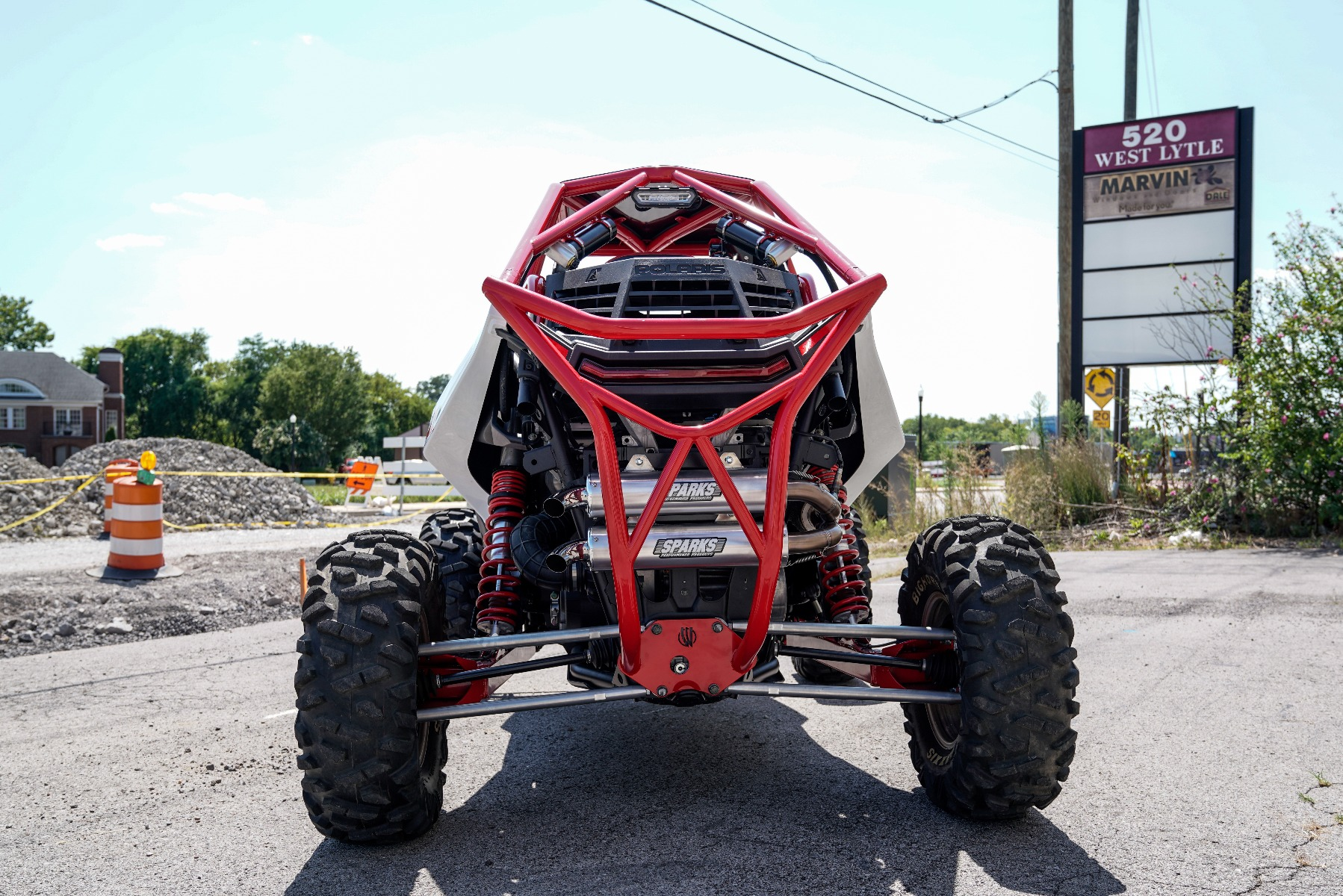 Polaris RZR RS1 Roll Cage in front of Wide Open Design Rear Image 1