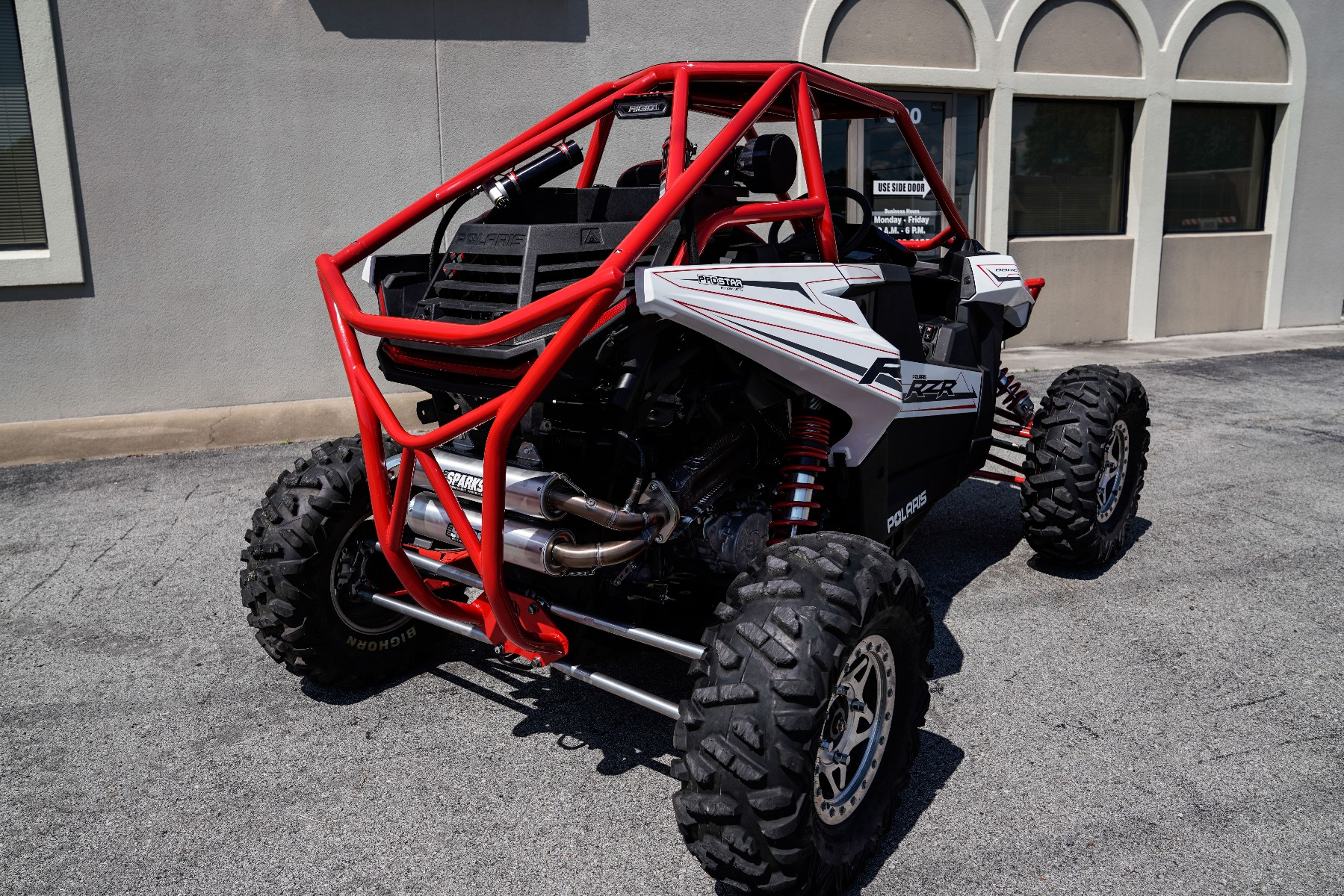 Polaris RZR RS1 Roll Cage in front of Wide Open Design Rear Image 2