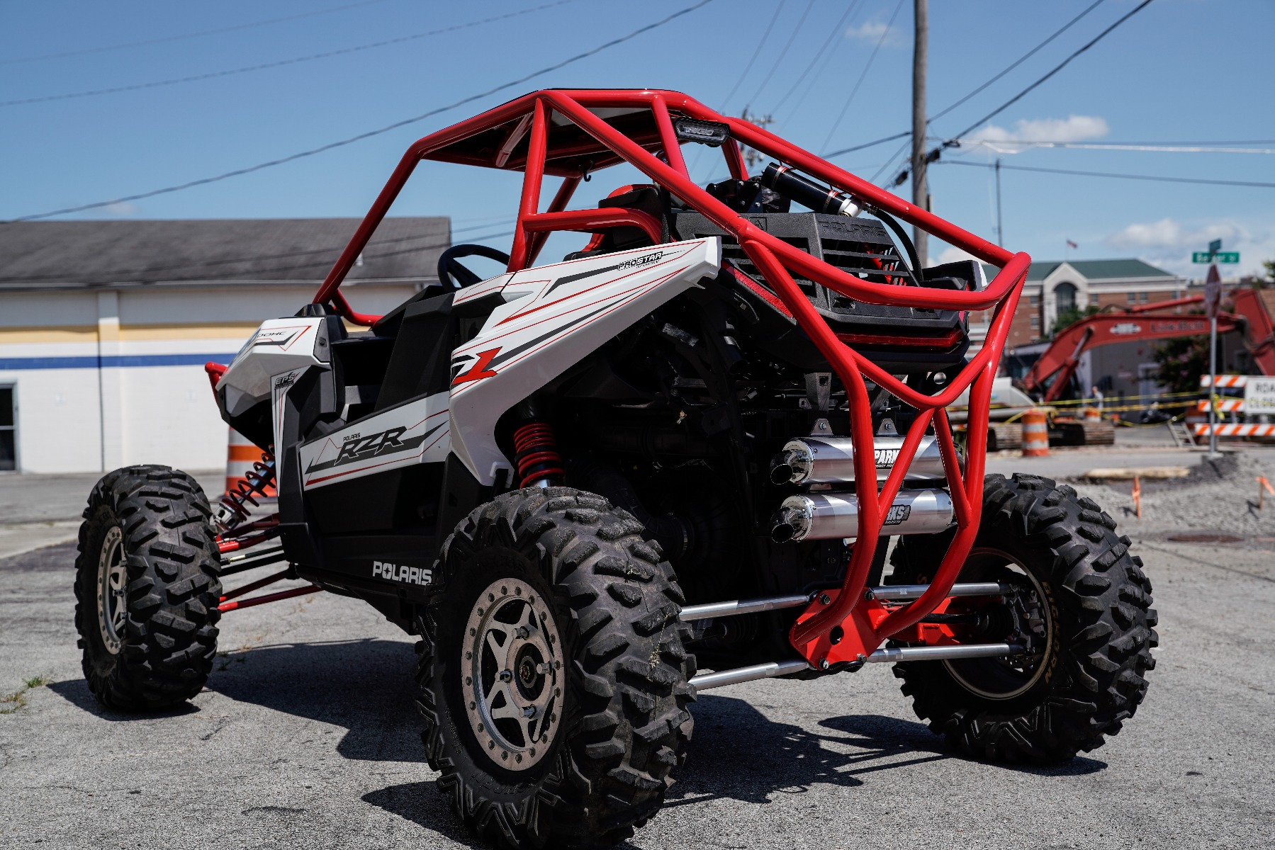 Polaris RZR RS1 Roll Cage in front of Wide Open Design Rear Image 5
