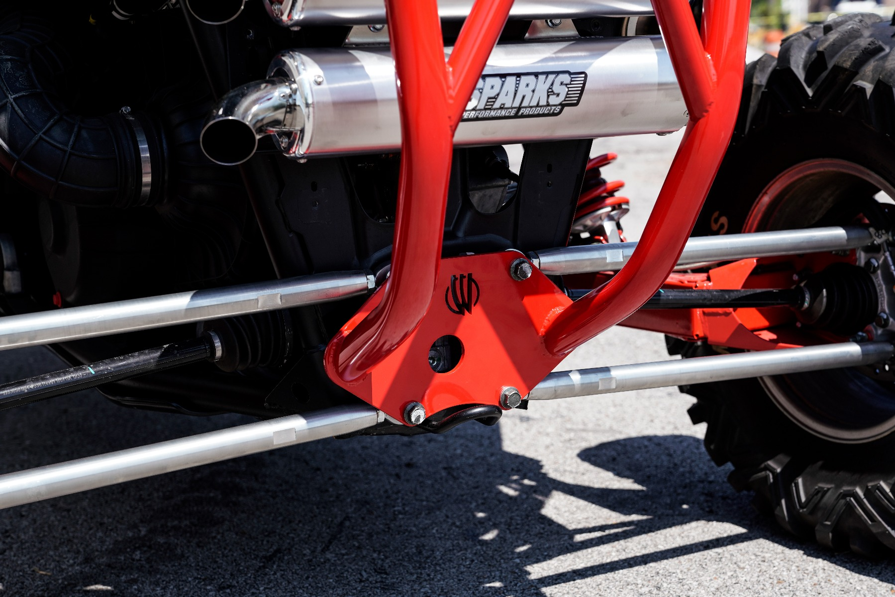 Polaris RZR RS1 Roll Cage in front of Wide Open Design Image 11