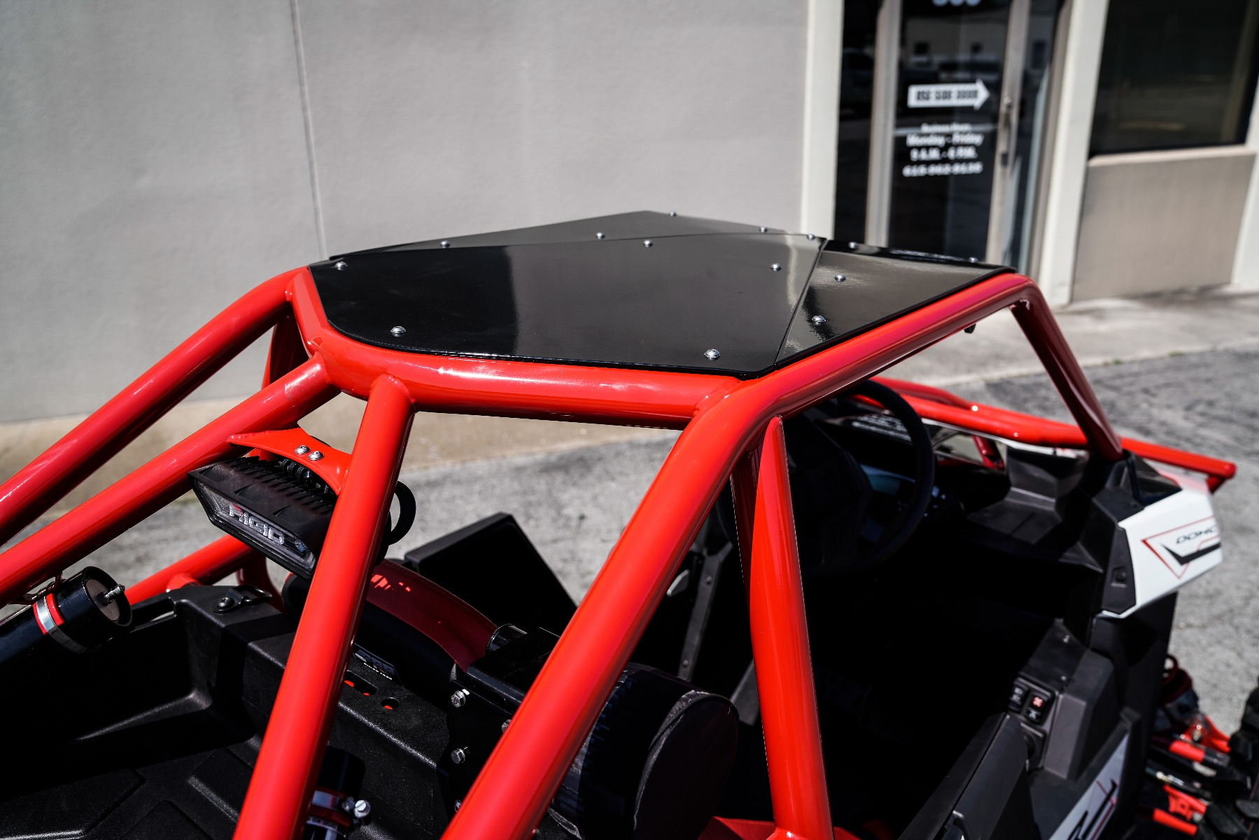 Polaris RZR RS1 Roll Cage in front of Wide Open Design Image 14