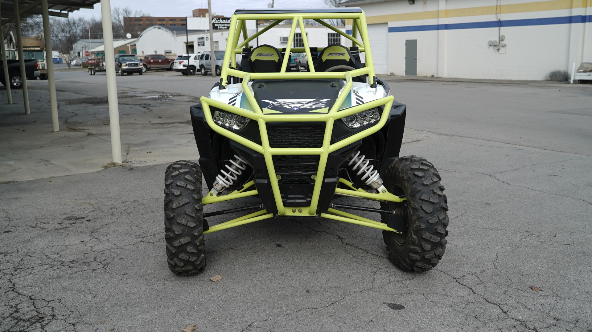 Polaris RZR 1000 with Yellow Roll Cage Image 2