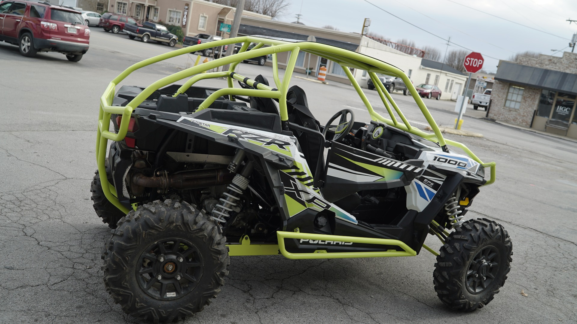 Polaris RZR 1000 with Yellow Roll Cage Image 4