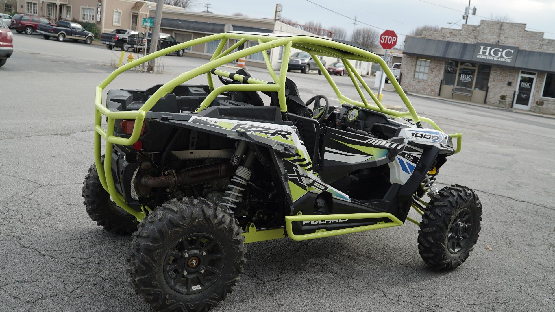 Polaris RZR 1000 with Yellow Roll Cage Image 5