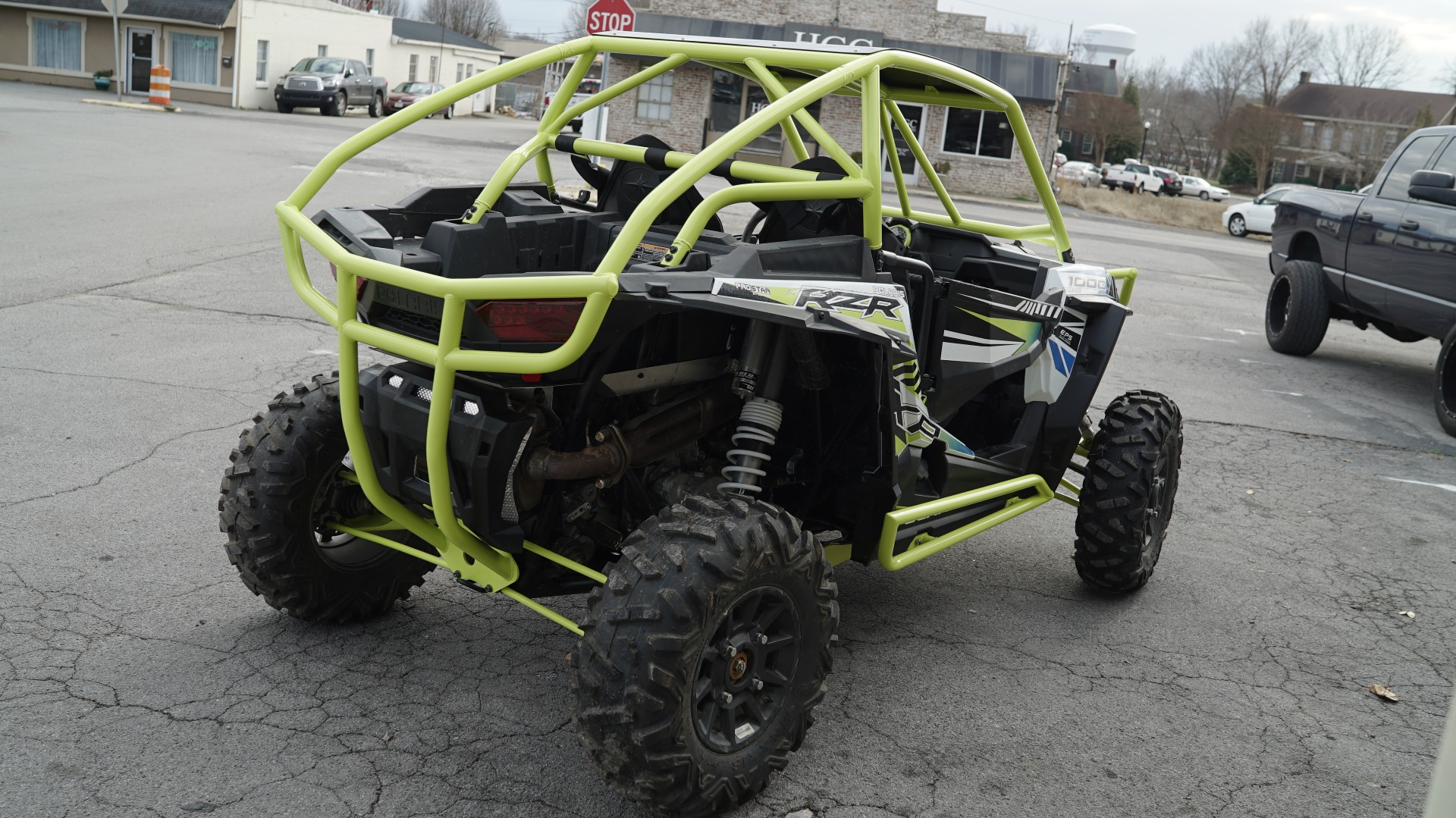 Polaris RZR 1000 with Yellow Roll Cage Image 6