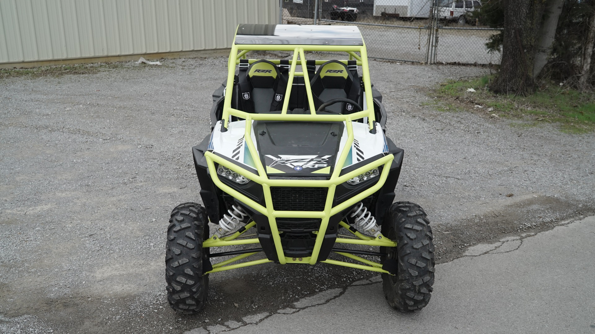 Polaris RZR 1000 with Yellow Roll Cage Front Bumper Image 2
