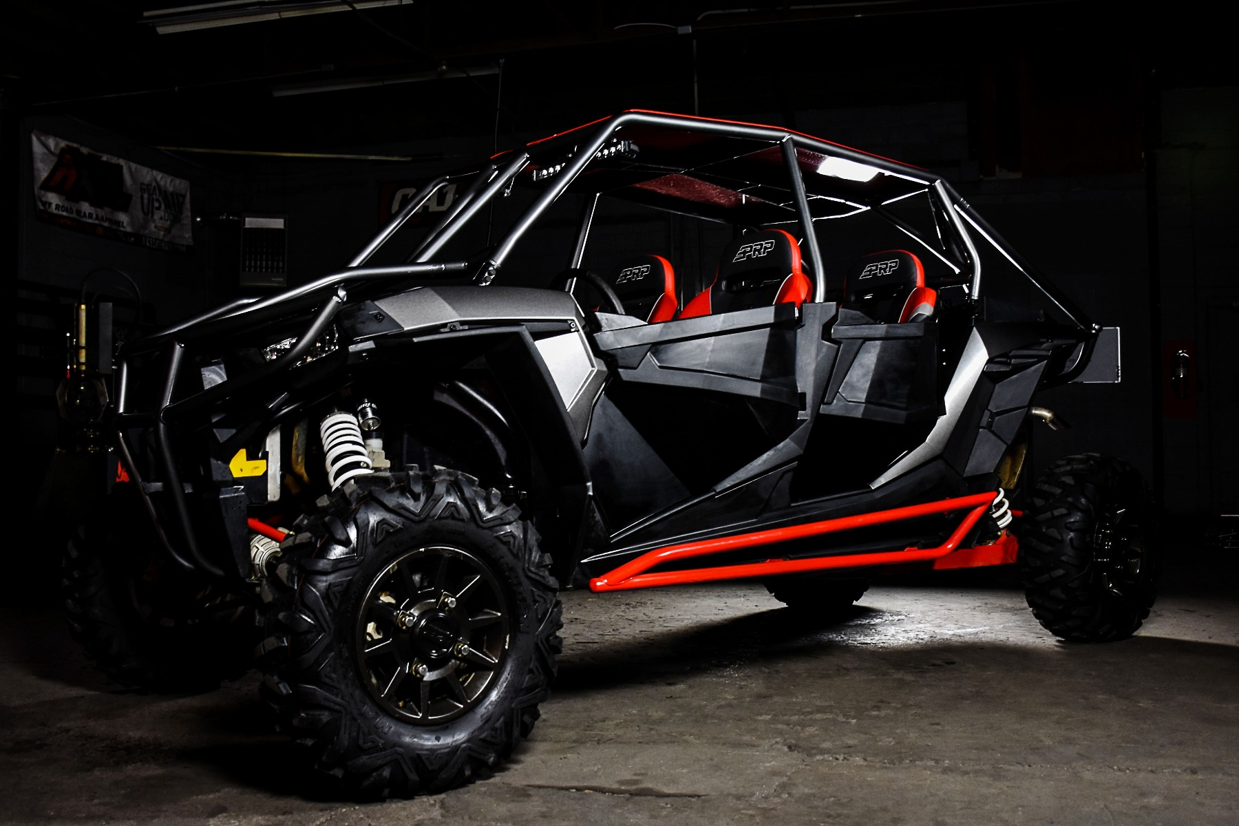 RZR 4 Seat XP 1000 with the Wide Open Design Venom Cage for sxs added protection 1