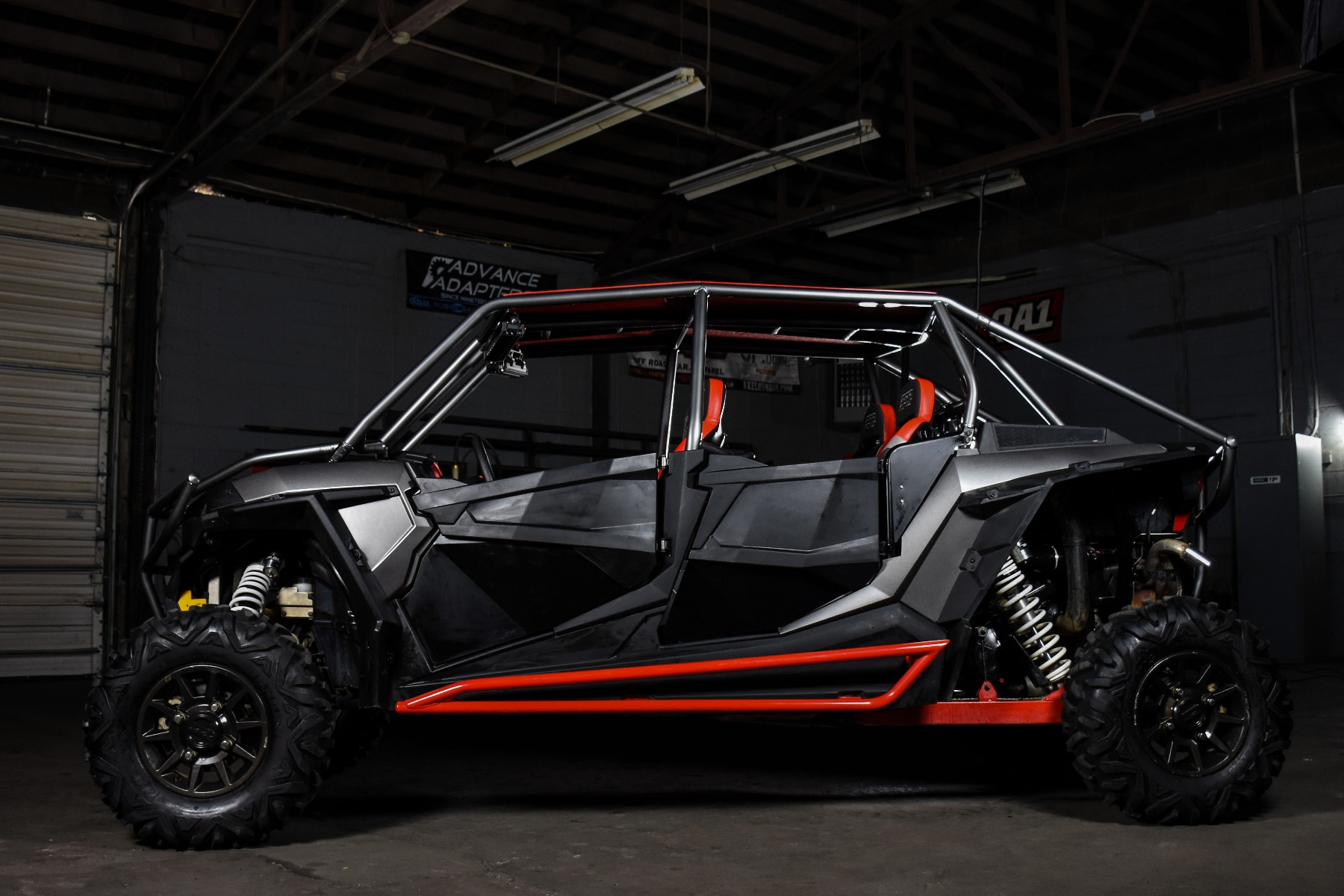 RZR 4 Seat XP 1000 with the Wide Open Design Venom Cage for sxs added protection 2
