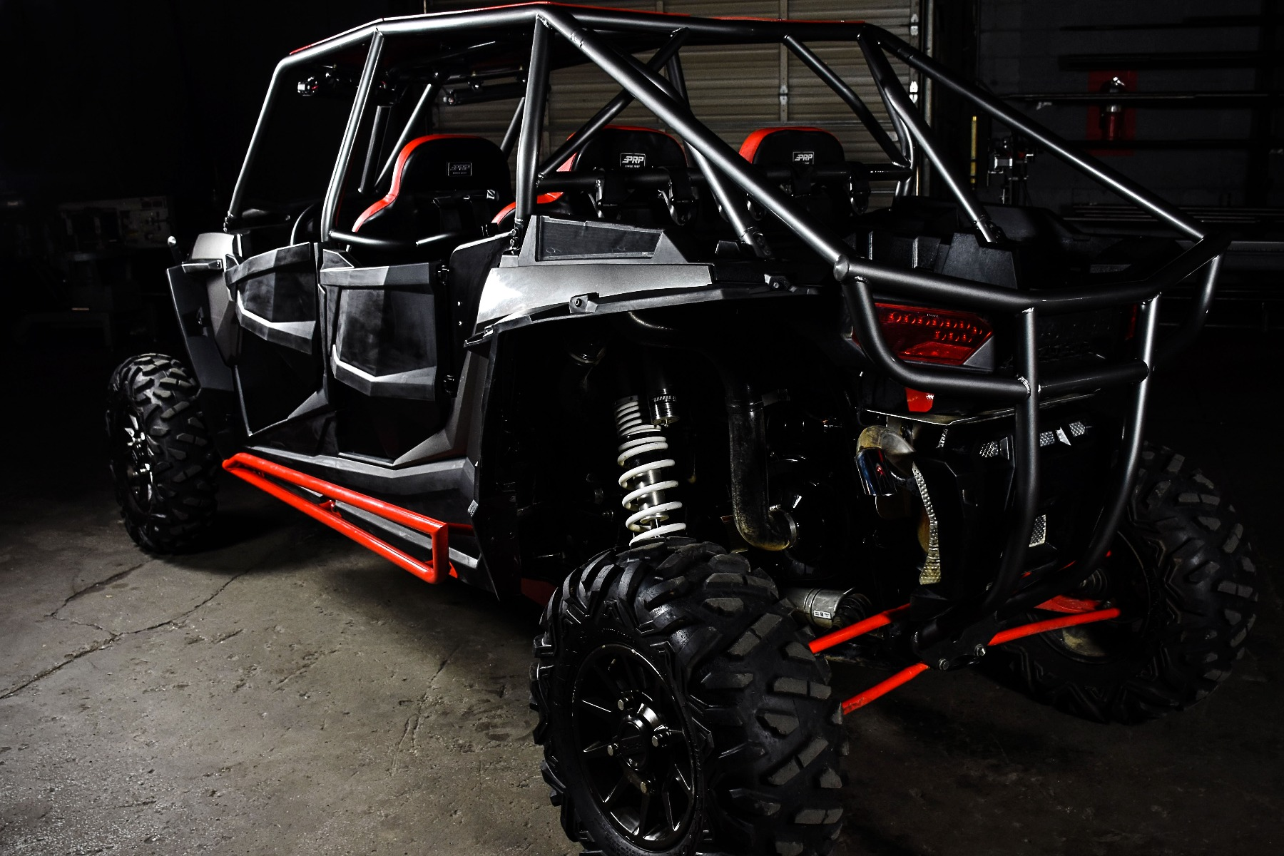RZR 4 Seat XP 1000 with the Wide Open Design Venom Cage for sxs added protection 3