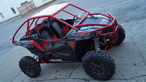 Polaris RZR 1000 Red Rolled Roof