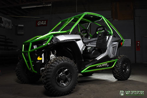 Polaris RZR 1000 S Green Rolled Roof