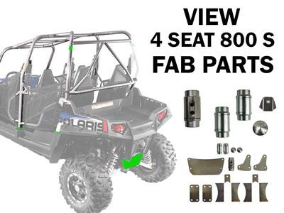 Polaris RZR 4 Seat 800 S Fabrication Parts