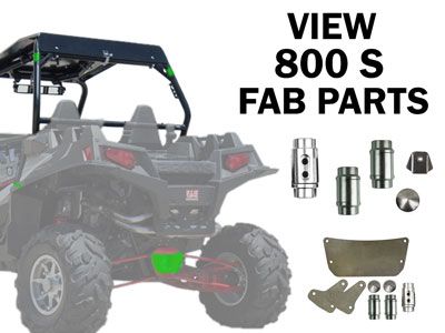 Polaris RZR 800 S Fabrication Parts
