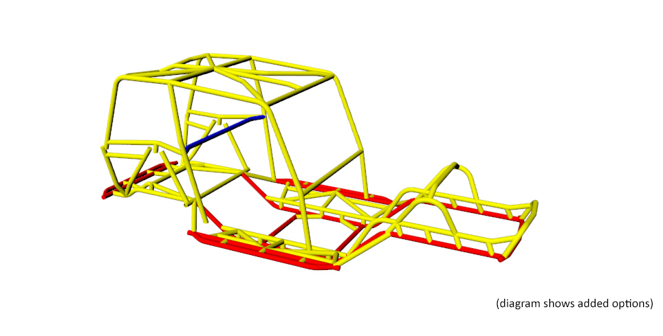 Jeep CJ/YJ Tube Frame Chassis Tubing Size 2