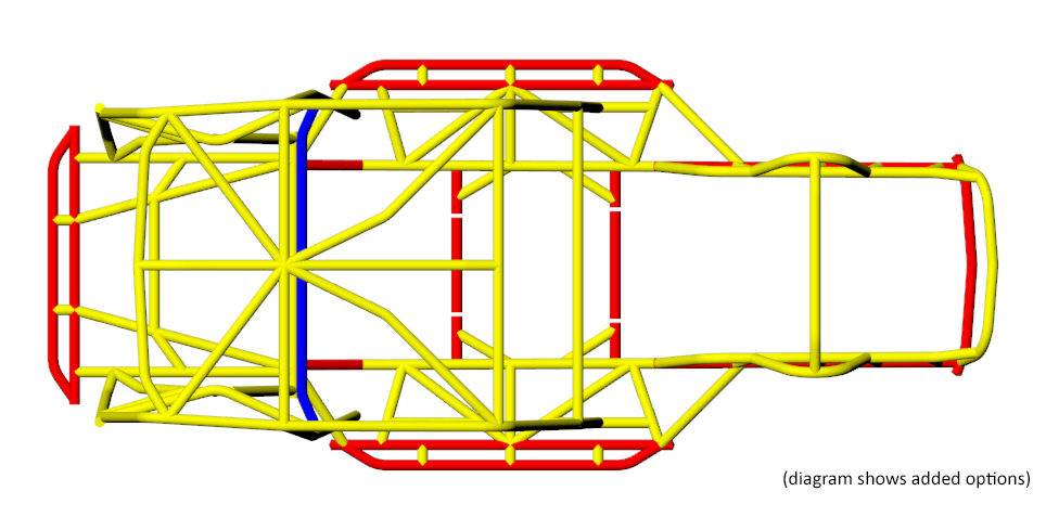 Jeep CJ/YJ Tube Frame Chassis Tubing Size 4