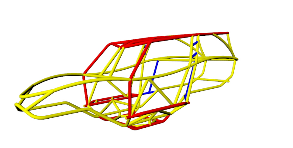 Revolution 4 Seat Chassis Tubing Size 3