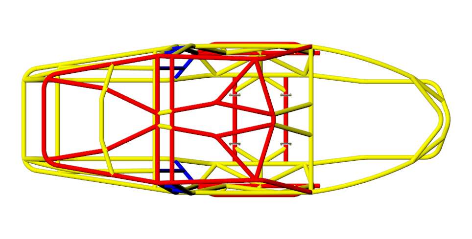 Revolution 4 Seat Chassis Tubing Size 4