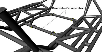 JC Chassis Removable Crossmembers