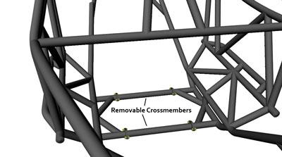 Rev 2 Seat Removable Crossmembers