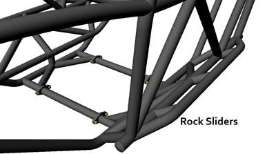 Rev 2 Seat Rock Sliders