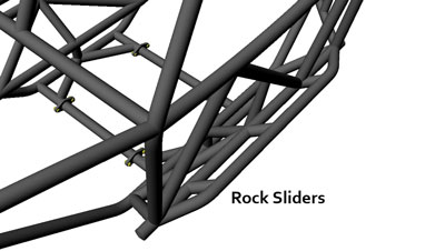 Rev 4 Seat Rock Sliders