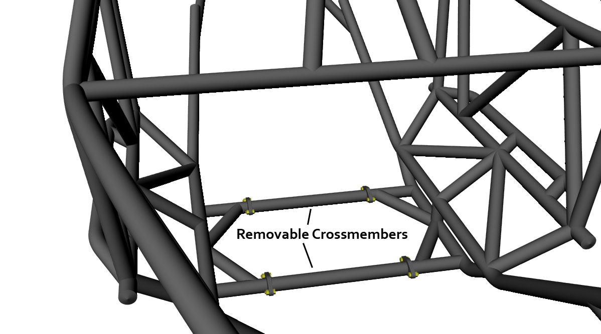 Rev 2 Seat Removable Crossmembers
